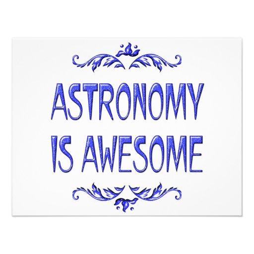 La astronomía es impresionante comunicado