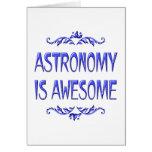 La astronomía es impresionante felicitacion