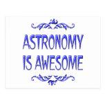 La astronomía es impresionante postal
