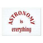 La astronomía es todo invitación 12,7 x 17,8 cm