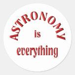 La astronomía es todo pegatinas redondas