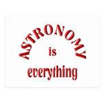 La astronomía es todo postal