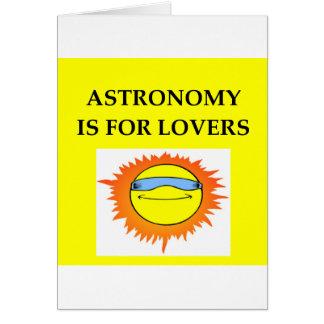 La ASTRONOMÍA está para los amantes Felicitacion