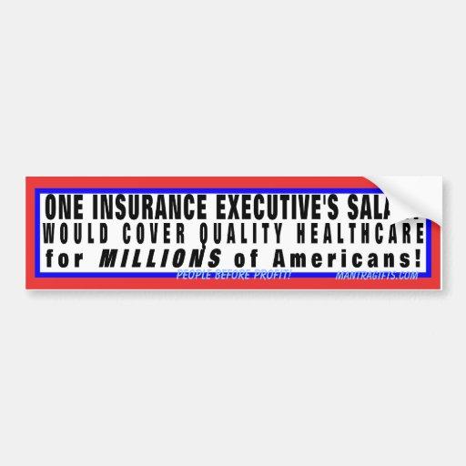 La atención sanitaria de la calidad es asequible etiqueta de parachoque