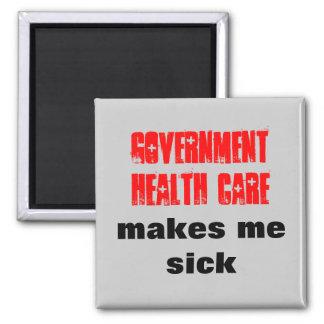 La atención sanitaria del gobierno me hace enfermo imán cuadrado