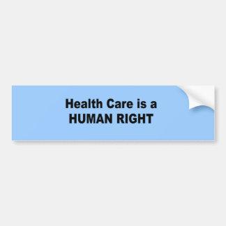 La atención sanitaria es un derecho humano pegatina para auto