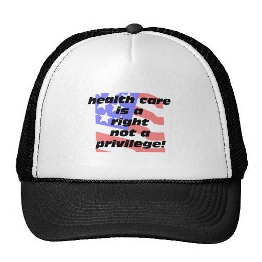 la atención sanitaria un correcto gorra