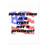 la atención sanitaria un correcto postal