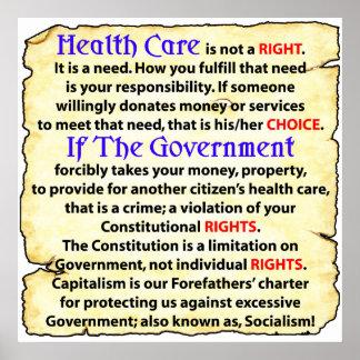¡La atención sanitaria un correcto! Póster