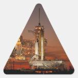 La Atlántida que aguarda la misión en espacio Calcomanía Triangulo Personalizadas
