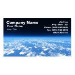 La atmósfera de tierra del espacio exterior tarjeta de negocio