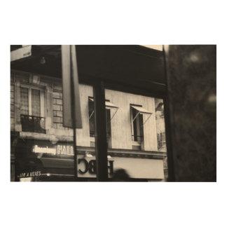 La atmósfera parisiense Windows y las reflexiones Impresiones En Madera