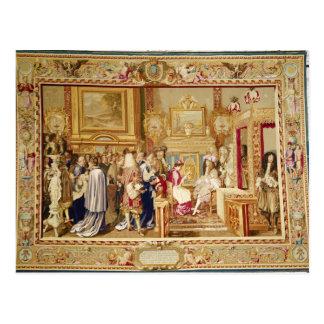 La audiencia de Chigi cardinal con Louis XIV Tarjeta Postal