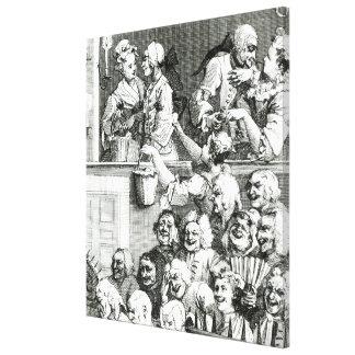 La audiencia de risa, 1733 lona estirada galerias