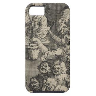 La audiencia de risa de William Hogarth iPhone 5 Carcasa