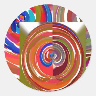 La aureola completa un ciclo - coloree la mandala pegatina redonda