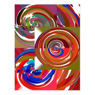 La aureola completa un ciclo - coloree la mandala  postales