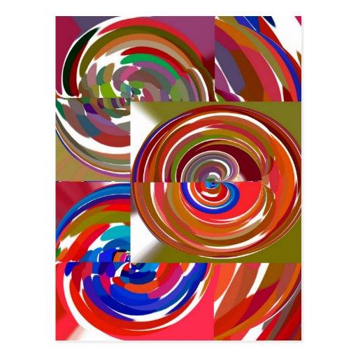 La aureola completa un ciclo - coloree la mandala tarjetas postales