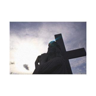 La aureola de Jesús estiró la impresión de la lona Lona Estirada Galerias