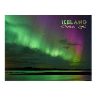 La aurora boreal de Islandia Postal