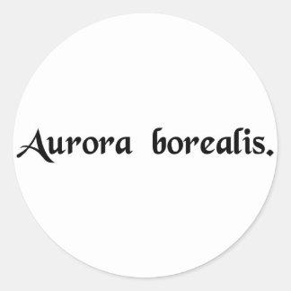 La aurora boreal pegatina redonda