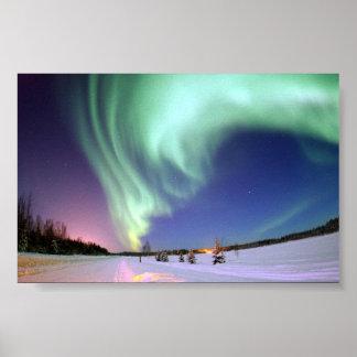 La aurora Borealis, o aurora boreal Posters