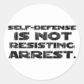 La autodefensa 3 lavó pesado pegatina redonda