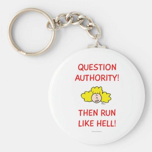 ¡La autoridad de la pregunta, entonces corre mucho Llavero Personalizado