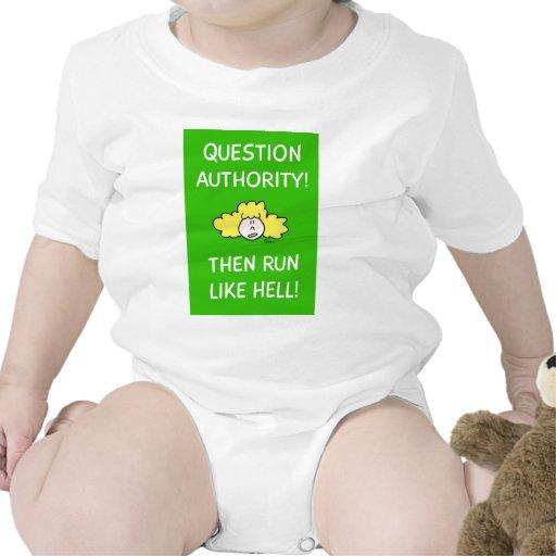 ¡La autoridad de la pregunta, entonces corre mucho Camisetas