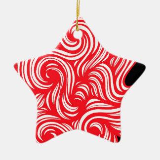La autorización brillante libera de pie adorno navideño de cerámica en forma de estrella