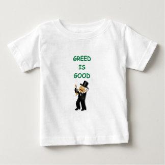 la avaricia es buena t-shirts