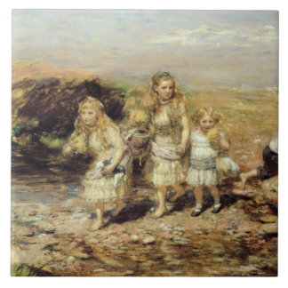 La aventura, 1883 (aceite en lona) azulejo cuadrado grande