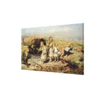La aventura, 1883 (aceite en lona) impresión en lona