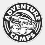 La aventura acampa los pegatinas etiquetas redondas