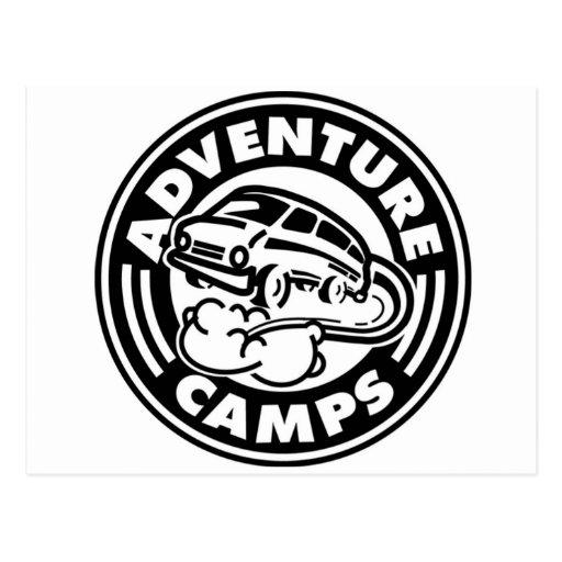 La aventura acampa postal