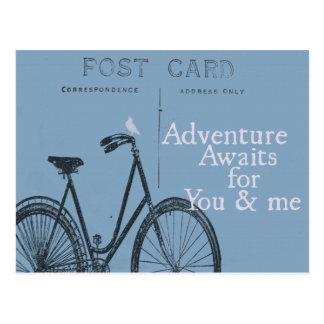 La aventura aguarda la postal