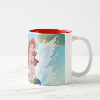 La aventura de Ariel el | comienza con usted Taza De Café De Dos Colores