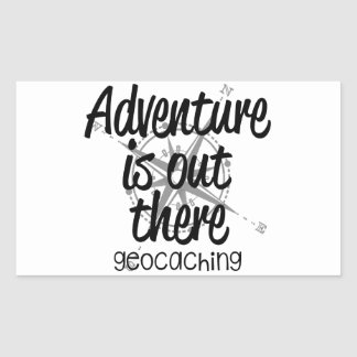 La aventura está hacia fuera allí pegatina rectangular