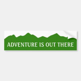 La aventura está hacia fuera allí pegatina para el pegatina de parachoque