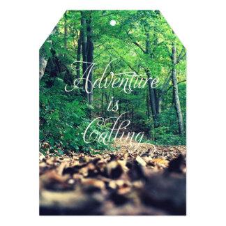 La aventura está llamando invitación 12,7 x 17,8 cm
