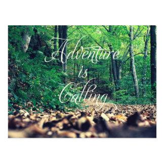 La aventura está llamando postal