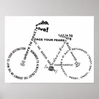 La aventura redacta la bicicleta póster