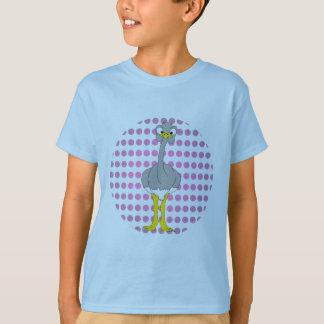 La avestruz embroma la camiseta