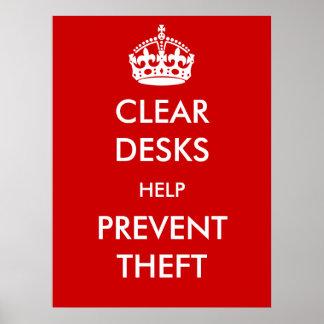 La ayuda clara de los escritorios previene el post