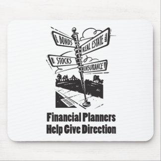 La ayuda de los planificadores financieros da mouse pad