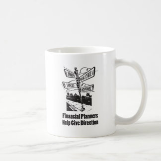 La ayuda de los planificadores financieros da taza de café