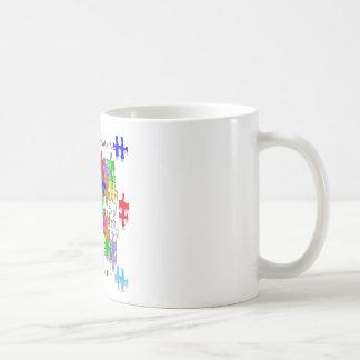 La ayuda de los profesores hace los pedazos del ro tazas de café