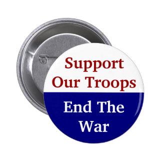 La ayuda del KRW nuestras tropas termina la guerra Pin Redondo De 2 Pulgadas