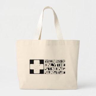 La ayuda del médico sobrevive bolsa tela grande