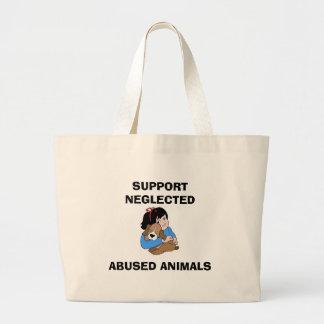 LA AYUDA DESCUIDADA ABUSÓ DE ANIMALES BOLSA TELA GRANDE